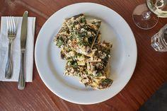 Monk's Kettle -Grilled flatbread, kale, mushrooms, mustard seed, cotija cheese  #flatbread #monkskettle #sffood #sfpub #sfeats #sanfrancisco #eatsanfrancisco #sanfranciscofood #bestsanfranciscofood #bestsanfranciscorestaurants