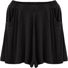 b8a021dd6fc Chouyatou Women s Candy Color Elastic Waist Flare Pleated Shorts Culottes  (One Size
