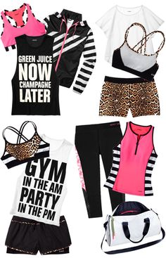 Cute workout outfits! Who says you have to be frumpy when you workout?