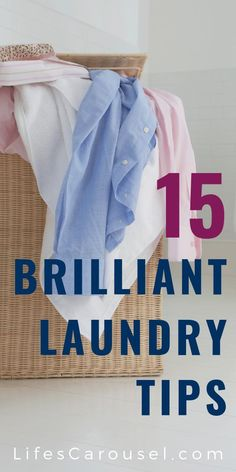 [No More Dirty Secrets] 15 Laundry Tips to Save Your Time & Sanity - (Dirty Secrets!) 15 Laundry Tips to SAVE Time and Money! Get tips and tricks (and hacks too! Speed Cleaning, Deep Cleaning Tips, House Cleaning Tips, Cleaning Hacks, Cleaning Schedules, Cleaning Lists, Weekly Cleaning, Tips And Tricks, Hydrogen Peroxide Uses