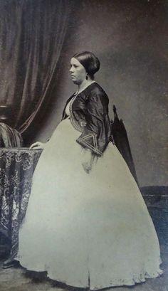 +~+~ Antique Photograph ~+~+  Rare photograph of a pregnant woman ca. 1860.