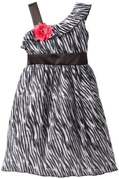 Amazon.com: Rare Editions Girls 7-16 Zebra Print Chiffon Dress: Clothing