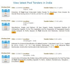 PWD Tenders Online, Have access of latest PWD tenders, #public works department tenders, public tender notices, local tenders for PWD online in #India. For more latest tenders for #PWD, Visit Tender Detail.