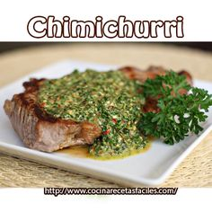 How to Make Chimichurri, The Argentinian BBQ Sauce Steak Recipes, Grilling Recipes, Sauce Recipes, Easy Recipes, Food N, Food And Drink, Steak With Chimichurri Sauce, Le Chef, Main Meals