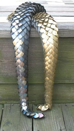 scale maille dragon tail - OMG! #diy #crafts