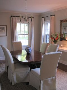 Dining rooms should be convivial, welcoming and comfortable. It is a place to converge, to dine, to entertain friends and for families to sp. Manchester Tan Benjamin Moore, Interior Paint Colors, Interior Design, Slipper Chairs, Best Dining, Dining Room Design, House Painting, Sweet Home, Room Decor