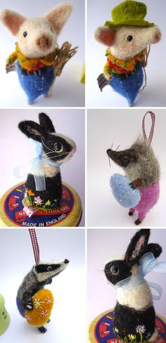 Keepsake Hand-Felted Animals by Miss Bumbles on Etsy, from Cheeky Monkey Home