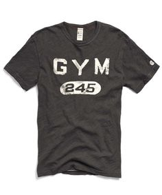 0b7199b10007a Gym 245 Graphic in Faded Black. Retro LogosGraphic TeesShirt DesignsTodd  SnyderFabricProductsT ShirtChampionSportswear