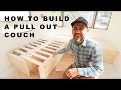 I show you how to build a pull out couch with storage in a vintage airstream. You can modify this couch/sofa to fit a van, tiny home, shed to house or bus co. Plywood Furniture, Diy Furniture, Couches, Camper Beds, Camper Van, Rv Campers, Airstream Renovation, Airstream Interior, Apartment Ideas