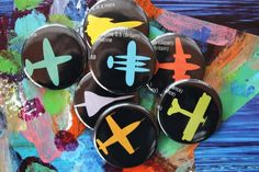 ReCYCLeD PaPeR Magnets  AiRPLaNe SPeeD ReCoRDS by joonbeam on Etsy