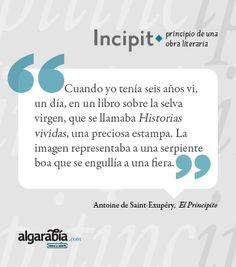 «El Principito» #incipit