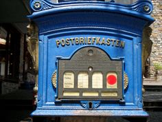 An old-fashioned German postbox