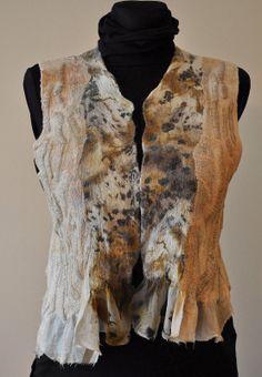 vest, felted, nunofelt, felted fashion, fashion