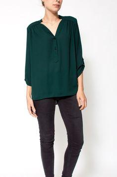 Sienna - Blouse Green Scarlet Roos