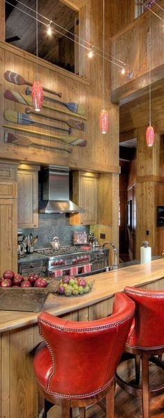 Martis Camp, Lake Tahoe - rustic - Kitchen - Other Metro - Studio V Interior Design
