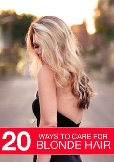 Blondes have more fun but they require more attention – find out how to care for your blonde hair properly.