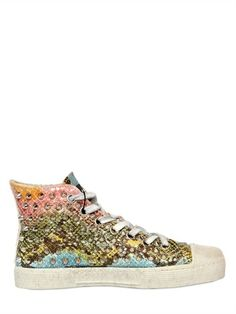 GIENCHI - 20MM STUDDED LEATHER HIGH TOP SNEAKERS - LUISAVIAROMA - LUXURY SHOPPING WORLDWIDE SHIPPING - FLORENCE
