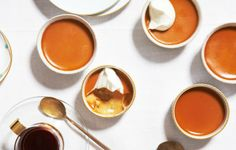 Burnt-Caramel Custards - Bon Appétit