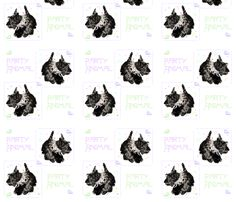 Scottish Terrier Party Animal fabric by maggierossdogs on Spoonflower - custom fabric