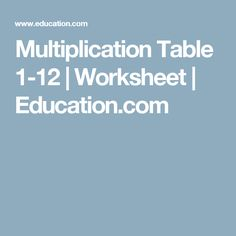 Worksheets Fill Missing Spaces With Numbers 1 -9 made this awesome cake my bord pinterest kids fill in the missing spaces of multiplication table for numbers 1 to 12 complete third grade math worksheet