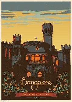 Travel Postcards & Posters by ranganath krishnamani, via Behance