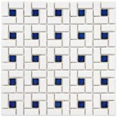 Found it at Wayfair - Retro Random Sized Porcelain Glazed and Glossy Mosaic in White and Blue