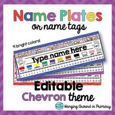 love these templates for desk name plates there are letters colors rh pinterest com