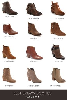 brown booties for fall 2014 via brightontheday