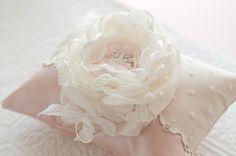 Ring Bearer Pillow Shabby chic romantic wedding ring by Cultivar, $65.00