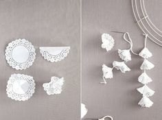 paper doily garland | Paper doily garland