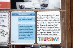 Using text messages in Project Life. Love this idea!