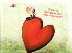 Edelvives - Davide Cali - Anna Laura Cantone - ¿Qué es el amor? - ilustración - álbum ilustrado