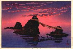 """Kawase Hasui, """"Futamigaura"""", 1933"""