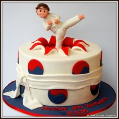 Children's Birthday Cakes - Taekwondo cake