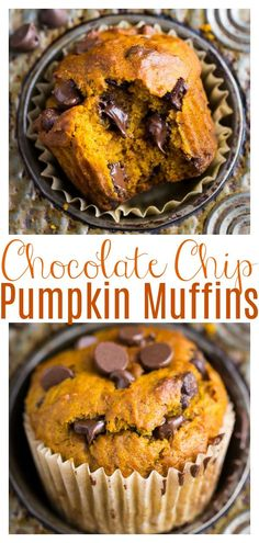 If you'e a pumpkin lover, you're in luck because this recipe makes Pumpkin Chocolate Chip Muffins AND bread! Moist, fluffy, and loaded with real pumpkin flavor! Perfect for breakfast or as an afternoon snack! #pumpkinmuffins #pumpkinbread #pumpkin #muffins #healthypumpkin Chocolate Chip Cupcakes, Pumpkin Chocolate Chip Muffins, Pumpkin Bread, Pumpkin Pumpkin, Healthy Pumpkin, Pumpkin Cookies, Chip Cookies, Pumpkin Carving, Just Desserts
