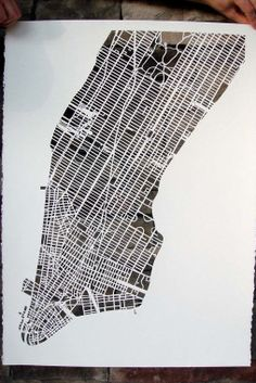 Can you guess which city map is this is? Karen O'Leary is amazing artisist for his hand cut paper maps of popular cities. Above is London map. Slow Galerie, Manhattan Map, Karen O, Munier, Map Globe, City Maps, Paper Cutting, Cut Paper, Die Cutting