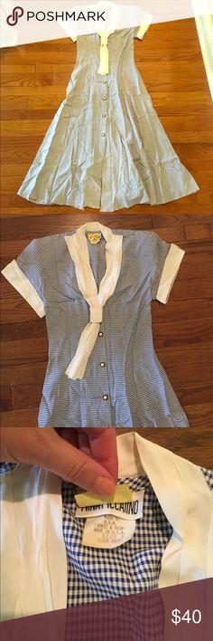 Vintage Blue Gingham dress Excellent used condition! Very cute Vintage Dresses