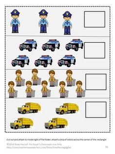 Community helper,file folder games for special education,autism activities File Folder Activities, File Folder Games, File Folders, Autism Activities, Autism Preschool, Preschool Kindergarten, 2 Letter, Letter Matching, Shape Matching