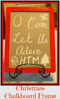 DIY Mommy Craft: Christmas Chalkboard Frame