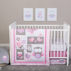 4 - Piece Crib Bedding Set - Little Owl