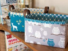 These Sturdy Fabric Baskets made with a simple tutorial make the best gifts ever! Especially for friends who craft - these baskets can hold yarn, sewing patterns, fabric scraps, and more.