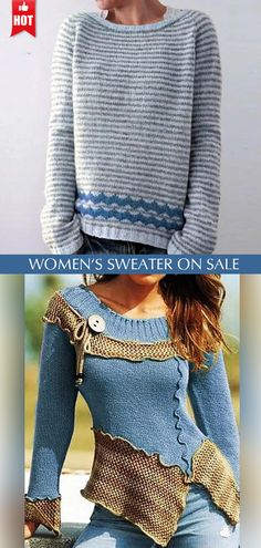 New Year Gifts, Christmas And New Year, Blue Sweaters, Shop Now, Men Sweater, Crochet, Clothes For Women, Chic, How To Wear