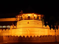 The temple of the Tooth is a UNESCO world heritage site situated in Kandy, Sri Lanka. The monument is actually a Buddhist worship place which is also famous as the temple of the sacred tooth.