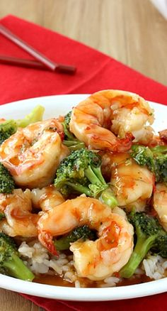General Tso's Sweet Chili ShrimpGeneral Tso's Sweet Chili Shrimp with broccoli and rice is a quick, healthier alternative to Chinese takeout.