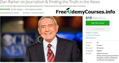 [#Udemy featured course] Dan Rather on #Journalism & Finding the Truth in the News   About This Course  Published 10/2016English  Course Description  Whether youre an avid consumer of the news or just beginning your journalism career renowned news anchor Dan Rather shares his first-hand experiences to guide you through the 21st century state of journalism.  In this course Dan teaches invaluable foundations on great writing the essentials of telling a good story and how to remain calm and…