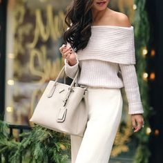 All white everything. // Follow @ShopStyle on Instagram to shop this look