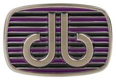 DB Purple and Black Stripe Buckle by Druh Belts.  Buy it @ ReadyGolf.com