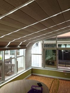 Spring Tension Sunroom Shades Operate Individually, By Hand Using Handle  And Wand, Stay In