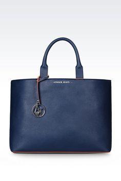 Armani Jeans Women TOTE BAG IN FAUX SAFFIANO WITH INNER POUCH 2ff37fa759fc4