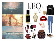 """leo"" by new-fashion-gen on Polyvore featuring Salvatore Ferragamo, Topshop, Casetify, Violent Lips, Michael Kors, Rosanna and Tatty Devine"